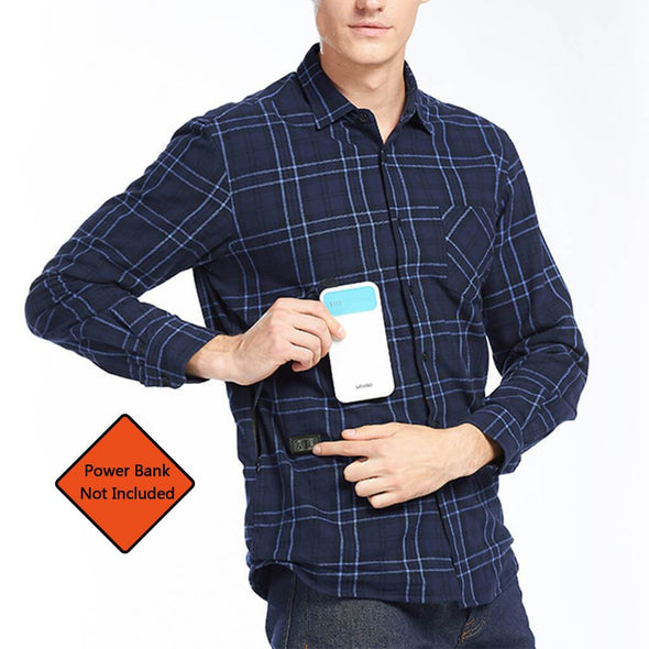 Clearance Sale - Double Control Smart Heated Shirt for Men - Snowwolf Wear