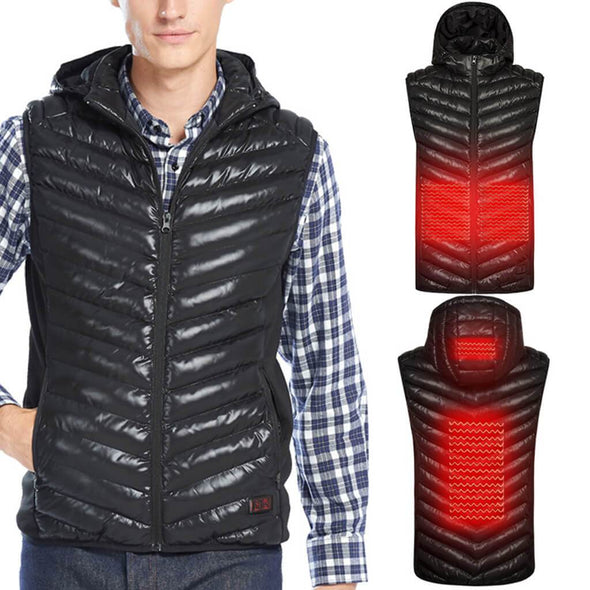 Male flame II Double Control Heated Vest - Snowwolf Wear