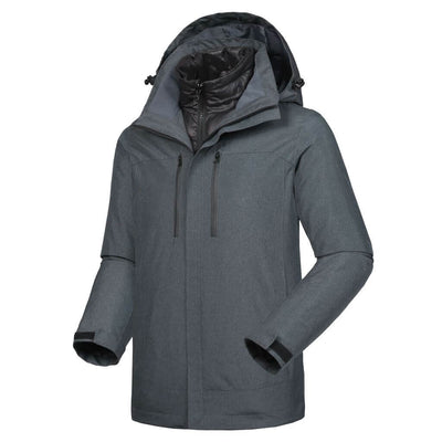 Male Flame II Smart Heated Outdoor Windbreaker - Snowwolf Wear
