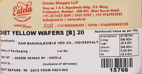 Diet Yellow Wafers [B]