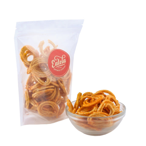 Crunchy and Crispy Mini Butter Chakli  By Eatela