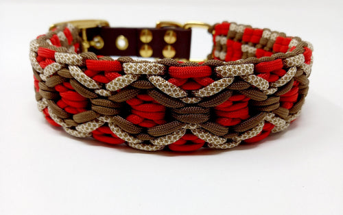 Paracord Halsband rot
