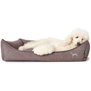 Hundesofa Prag Easy Clean rosa/anthrazit