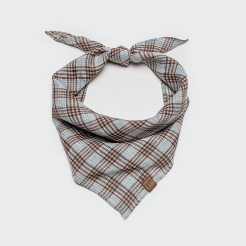 Bandana Check Brown - Cyan