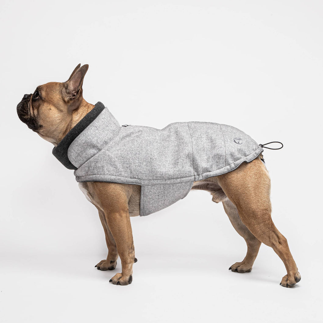 Hundemantel Brooklyn Fr Bulldogge Flanell Grey