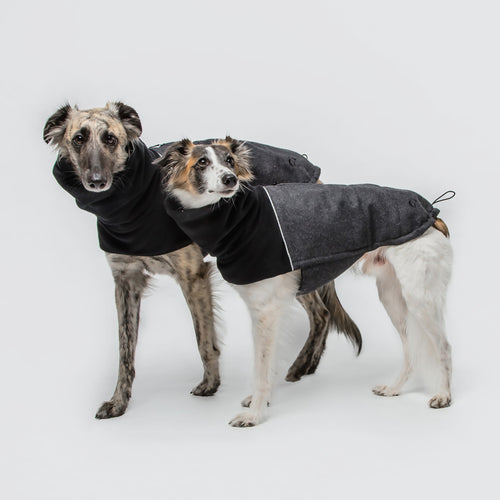 Hundemantel Oxford Flanell Anthra