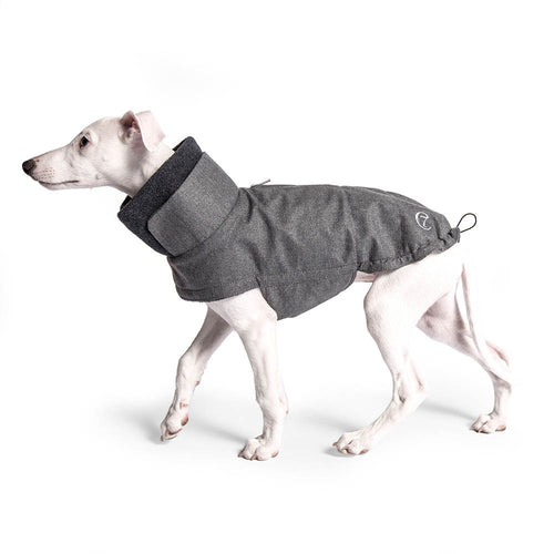 Hundemantel Brooklyn Windhund Flanell Grey - wasserabweisend
