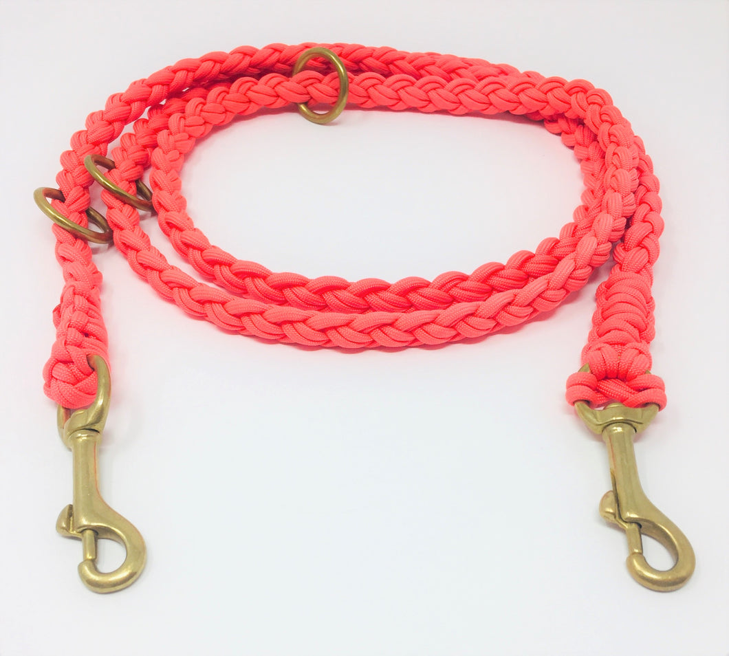 Paracord Leine ''neon orange''