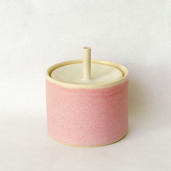Sue Ure Small Pink Lidded Pot