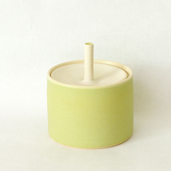 Sue Ure Small Lime Lidded Pot