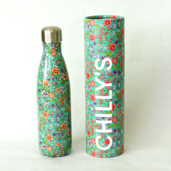 Chilly's 500ml Bottle Green Floral