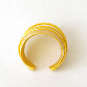 Fotini Liami Gold Plated Open Ring with Wire Detail
