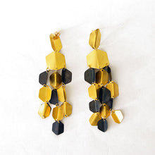 Load image into Gallery viewer, Fotini Liami Gold Hexagon Earrings