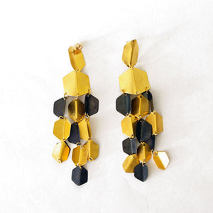 Fotini Liami Gold Hexagon Earrings