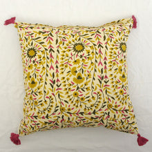 Load image into Gallery viewer, Kollam Curry Hand Blocked Cushion