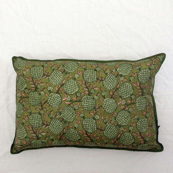 Green Pomegranate Silk Cushion