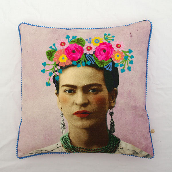 Pink Frida Kahlo Cushion
