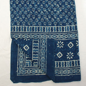 Indigo Blue Printed Throw