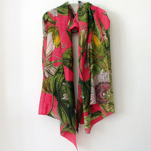 Pink Passionflower Scarf