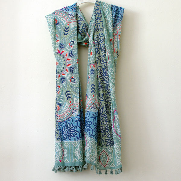 Dutch Egg Blue Scarf