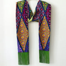 Load image into Gallery viewer, Eleni Malami  Silk Scarf green multi