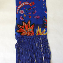 Load image into Gallery viewer, Eleni Malami Silk Scarf blue