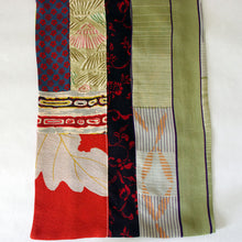 Load image into Gallery viewer, Vintage Kimono Scarf gr red
