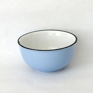 Blue ceramic 'Enamel' Bow