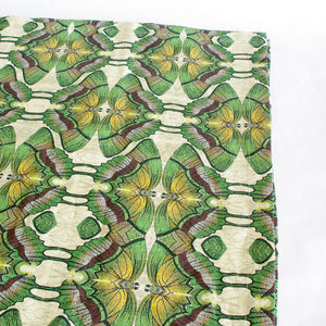 Green Moth Linen Tablecloth