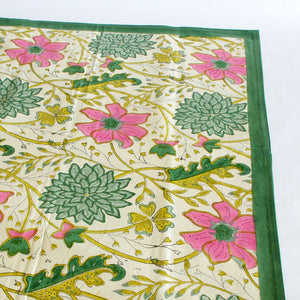 Sitapur Parrot Tablecloth green