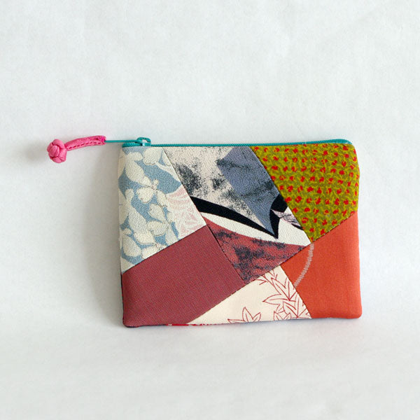 Vintage Kimono Patterned Coin Purse