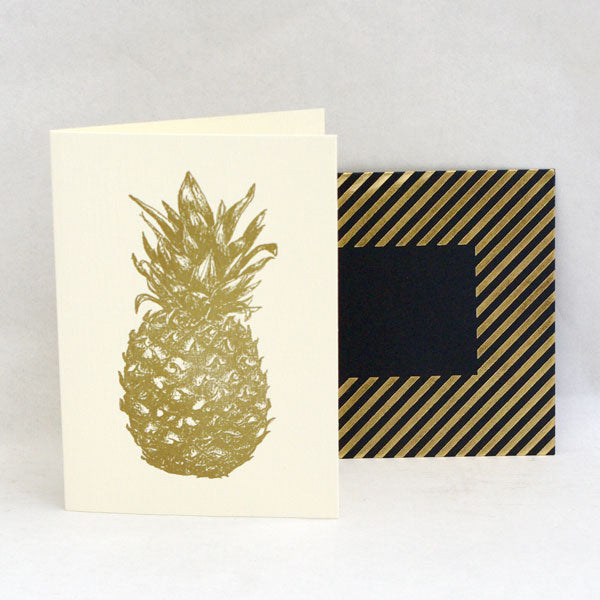 Gold Pineapple Card