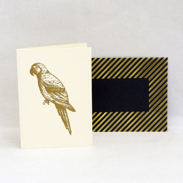Gold Parrot Card
