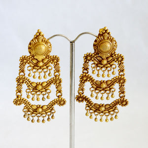 Indian Triple Tier Earrings
