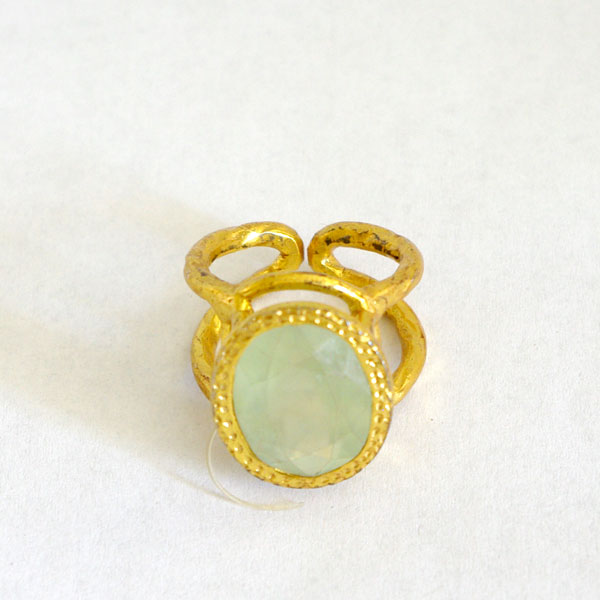 Chalcedony Ring Silver gilt