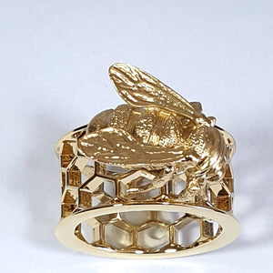 Bill Skinner Bee & Honeycomb Ring