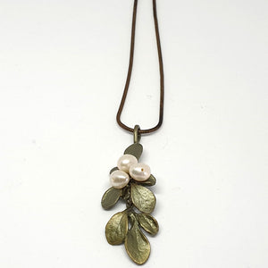 Michael Michaud Irish Thorn Leaf Drop Pendant