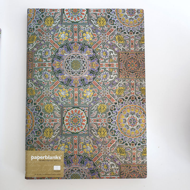 Large Unlined 'Tibetan Textile' Notebook