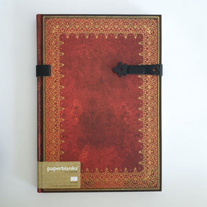 Large Unlined 'Old Leather' Notebook