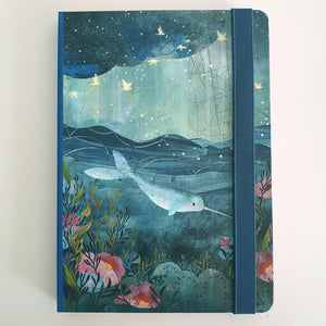 Blue Sea Unlined Notebook
