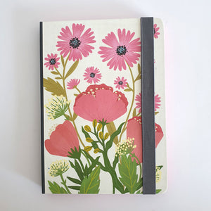 Pink Poppy Blank Notebook
