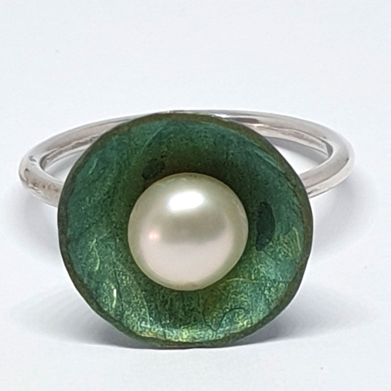 Green Disc Ring