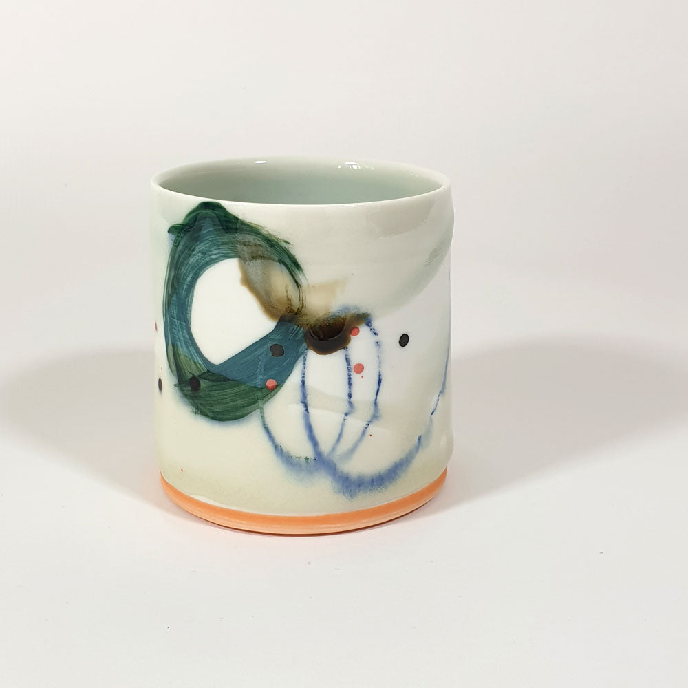 Adam Frew Green Abstract Espresso Cup
