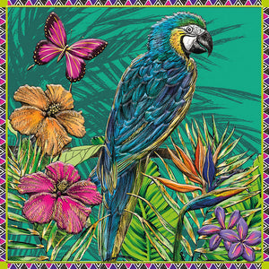 Card - 'Parrot & Butterfly'