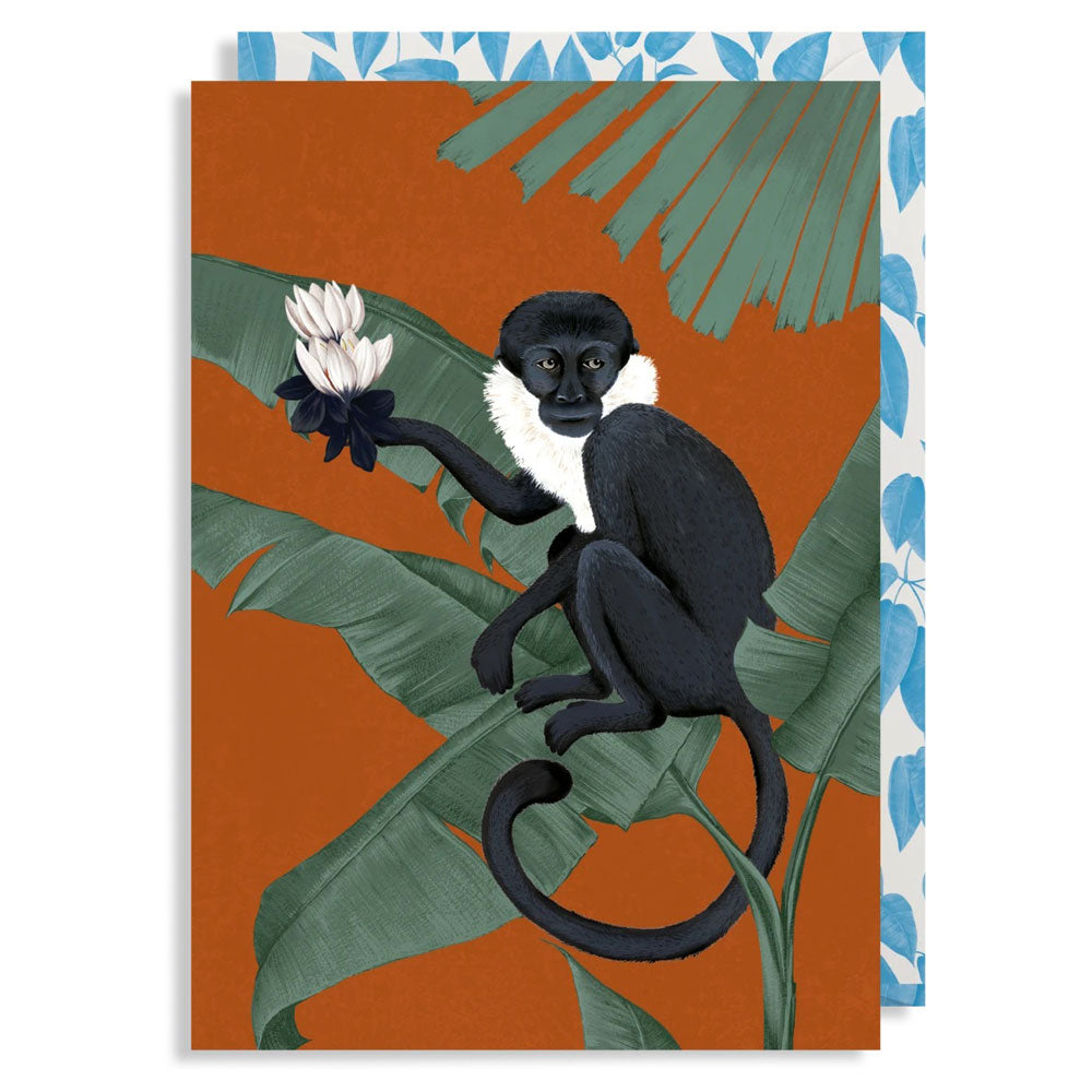 Any Occasion Card - Monkey with Ixia, Anna Glover