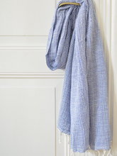 Load image into Gallery viewer, Hammam Towel Blue Stripe