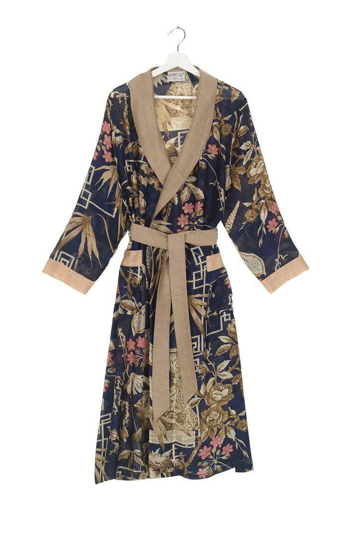 Dressing Gown Indigo Bamboo