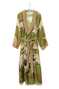 Dressing Gown Green Stork