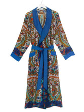 Load image into Gallery viewer, Dressing Gown Decadent Blue