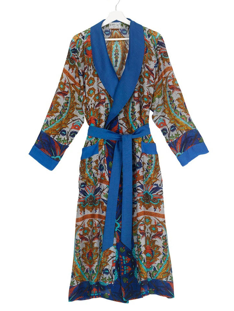 Dressing Gown Decadent Blue